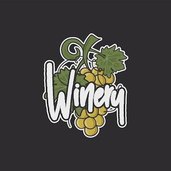 Szablon logo winiarni.