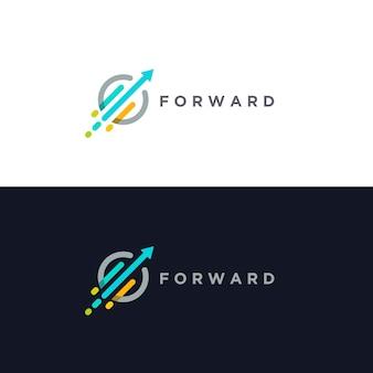 Szablon logo wzrostu do przodu