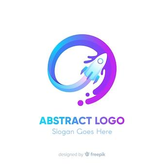 Szablon logo z abstrakcyjnych kształtów