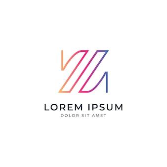 Szablon logo z literą