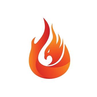 Szablon logo z ogniem