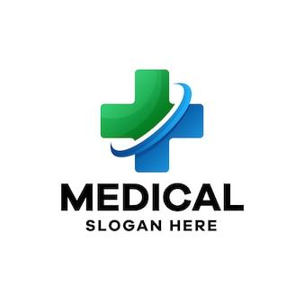 Szablon logo zdrowego gradientu