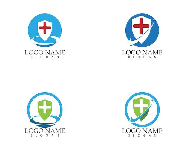 Szablon logo zdrowia medyczne