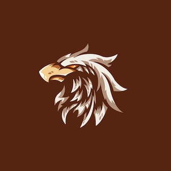 Szablon logo zespołu e-sport eagle