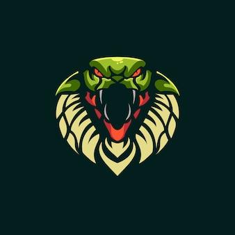 Szablon logo zespołu e-sport węża