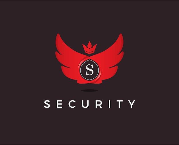 Szablon logo złota ikona litery s