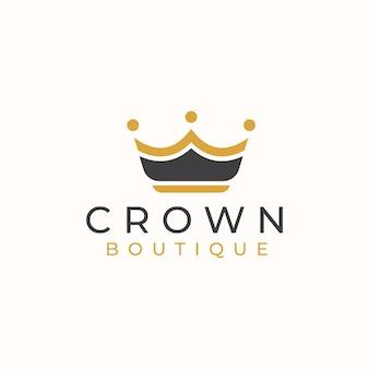 Szablon logo złotej korony.