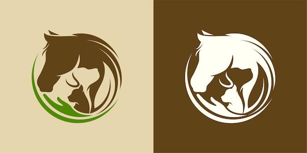 Szablon logo zwierząt i zwierząt domowych