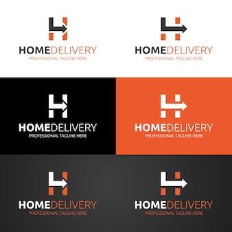 Szablon logo żywności dostawy do domu