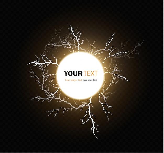Szablon magicznych i jasnych efektów świetlnych