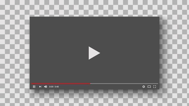 Szablon makieta interfejsu odtwarzacza wideo