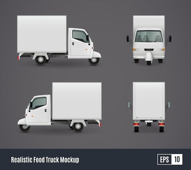 Szablon małej ciężarówki żywności