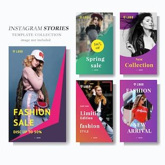 Szablon marketingowy historii instagramów