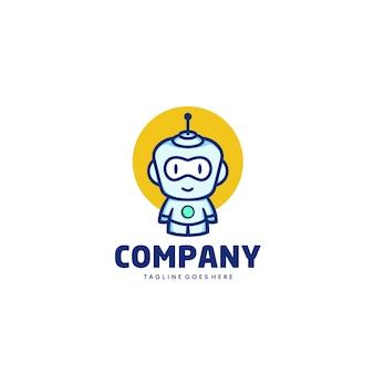 Szablon maskotka logo robot kreskówka szablon
