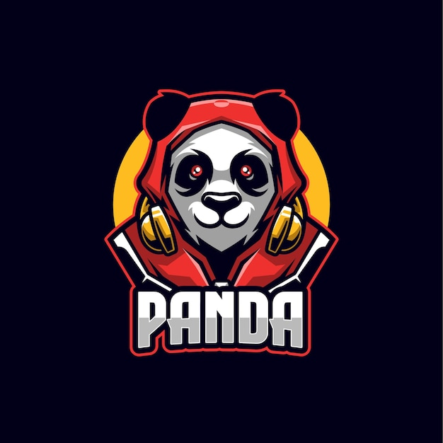 Szablon maskotki logo panda esports