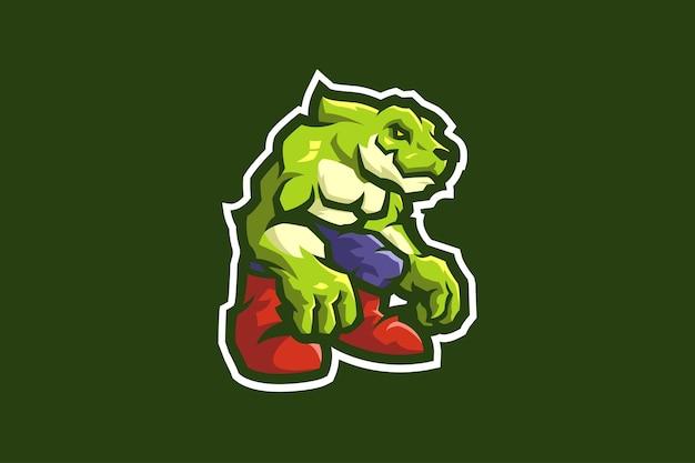 Szablon maskotki olbrzymiego aligatora