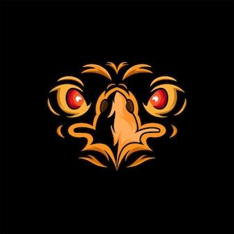 Szablon maskotki z logo orła