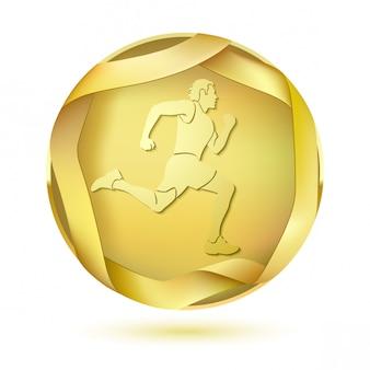 Szablon medal nagrody sportowej
