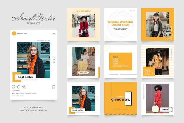 Szablon mediów społecznościowych baner blog promocja sprzedaży mody