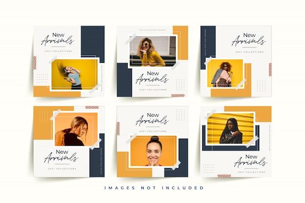 Szablon mediów społecznościowych dla biznesu online moda kobieta