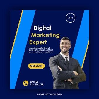 Szablon mediów społecznościowych do marketingu cyfrowego
