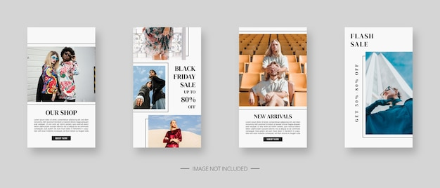 Szablon mediów społecznościowych. modny edytowalny szablon historii w mediach społecznościowych. projekt szablonu