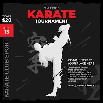 Szablon mediów społecznościowych turnieju karate