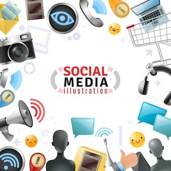 Szablon mediów społecznościowych