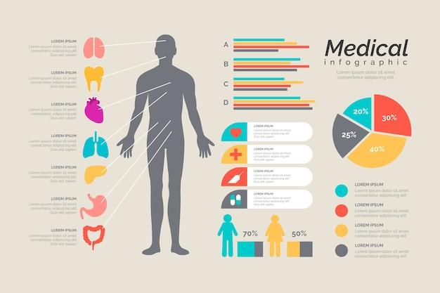 Szablon medyczny styl infographic