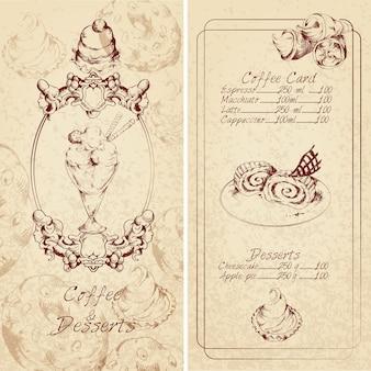 Szablon menu deserów