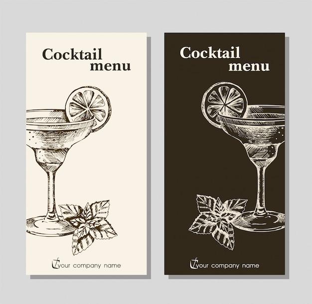 Szablon menu dla kawiarni i baru w restauracji
