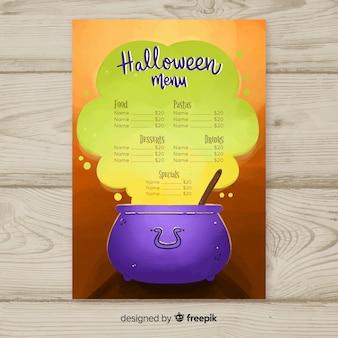 Szablon menu halloween