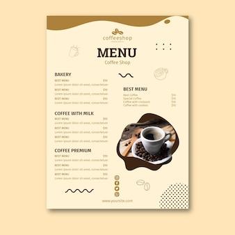 Szablon menu kawiarni