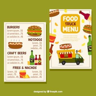 Szablon menu menu żywności dla zabawy