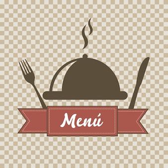 Szablon menu na tle kwadraty ilustracji wektorowych