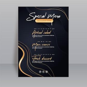 Szablon menu restauracji gradientu