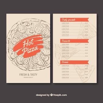 Szablon menu restauracji w stylu wyciągnąć rękę