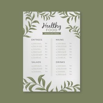 Szablon menu restauracji zdrowe jedzenie vintage szablon menu restauracji zdrowe jedzenie