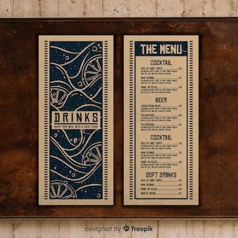 Szablon menu restauracji ze zdjęciem