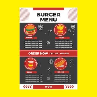Szablon menu restauracji