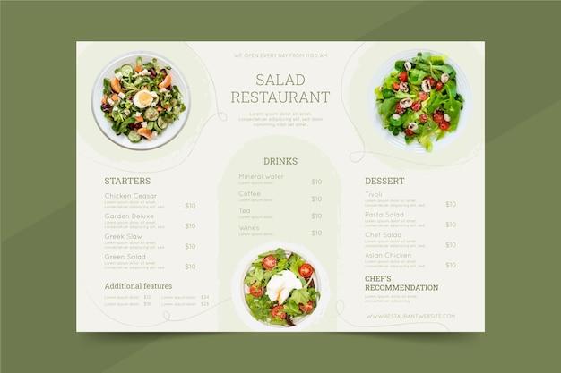 Szablon menu rustykalnej restauracji