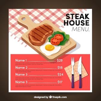 Szablon menu steakhouse