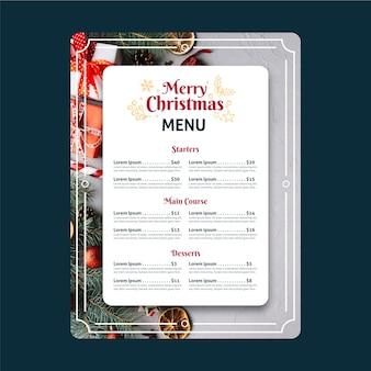 Szablon menu świąteczne ze zdjęciem
