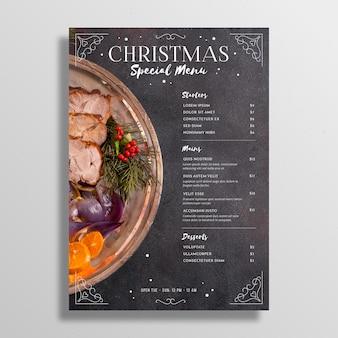 Szablon menu świąteczne