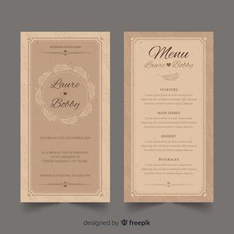 Szablon menu weselne