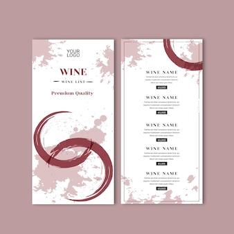 Szablon menu wina