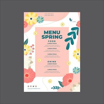 Szablon menu wiosny