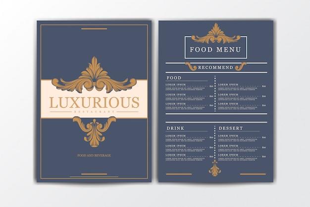 Szablon menu żywności restauracji