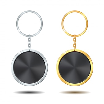 Szablon metalowe breloki zestaw złoty i srebrny krąg