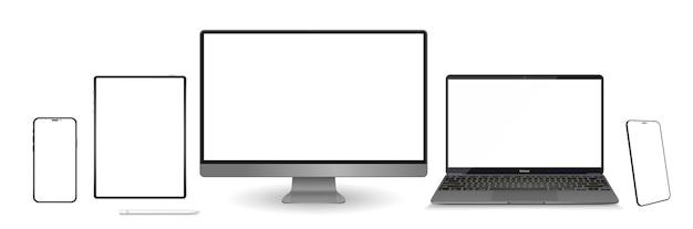 Szablon monitora i telefonu komórkowego